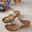 รองเท้าแตะคีบโป้งโบฮีเมียนสีตาล สวยล้ำ 316-1-ตาล thumbnail 3