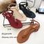 รองเท้าแตะวัสดุหนังนิ่มแบบคีบสีแทน Style 5534-แทน thumbnail 2