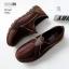 รองเท้าผ้าใบเกาหลีสีน้ำตาล soft&comfort แต่งซิป พื้นถอดได้(ผ้าใบยืด) 8262-น้ำตาล thumbnail 3