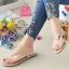 รองเท้าแตะลำลองรัดส้นสีนู๊ด 992-31-นู๊ด thumbnail 2