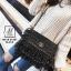 กระเป๋าสะพายกระเป๋าถือ ครัชแฟชั่นงานนำเข้าสไตล์แบรนด์ดังสุดหรู MB18-01207-BLK [สีดำ] thumbnail 5