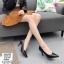 พร้อมส่ง รองเท้าคัชชูผู้หญิง หนังลายวัว K9080-BLK [สีดำ] thumbnail 2