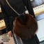 กระเป๋าสะพายกระเป๋าถือกระเป๋าขน แฟชั่นนำเข้าทรงกลมแบบขน fur สุดนุ่ม MB18-00301-BRO (สีน้ำตาล) thumbnail 2
