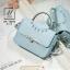 กระเป๋าสะพายกระเป๋าถือ แฟชั่นนำเข้าสไตล์คุณหนู AX-12343-BLU (สีน้ำเงิน) thumbnail 1