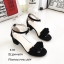 รองเท้าส้นเหลี่ยมรัดข้อ A-222-ดำ (สีดำ) thumbnail 4