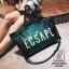 กระเป๋าสะพายกระเป๋าถือกระเป๋าปักเลื่อม แฟชั่นงานนำเข้าปักเลื่อมวิ๊บวับ MB18-00905-GRN [สีเขียว] thumbnail 3