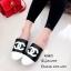 รองเท้าแตะวัสดุหนังนิ่มทรงสลิปเปอร์ KK8822-ดำ (สีดำ) thumbnail 3