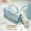 กระเป๋าสะพายกระเป๋าถือ แฟชั่นนำเข้าสไตล์คุณหนู AX-12343-BLU (สีน้ำเงิน) thumbnail 3