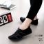 รองเท้าผ้าใบยางยืดสีดำ ผ้ายืดเงา เบาสบาย 8271-ดำ thumbnail 1