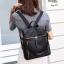 กระเป๋าเป้ผู้หญิงสะพายแบบน่ารัก สะพายได้หลายแบบ BAG-077-ดำ (สีดำ) thumbnail 3