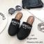 รองเท้าแตะทรงสลิปเปอร์ เปิดส้นgivenchy G611-ดำ (สีดำ) thumbnail 4