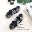 รองเท้าผ้าใบวัสดุผ้ายืดสังเคราะห์สีกรม แต่งสายคาดดีไซน์แบบไขว้ MS238-กรม thumbnail 1