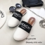 รองเท้าแตะทรงสลิปเปอร์ เปิดส้นgivenchy G611-ขาว (สีขาว) thumbnail 1