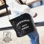 กระเป๋าสะพายกระเป๋าปักเลื่อม แฟชั่นงานนำเข้าทรงกระบอกปักเลื่อมวิ๊บวับ MB18-01205-BLK (สีดำ) thumbnail 4