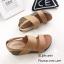 รองเท้าส้นเตารีด2สายรัดส้น 960-17-TAN (สีแทน) thumbnail 3