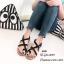 รองเท้าแตะลำลองหนังนิ่มแบบสวมโป้ง พื้นกระสอบ A608-ดำ (สีดำ)
