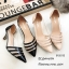 รองเท้าคัชชูข้างใสสีครีม B13-513-ครีม thumbnail 2