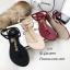 รองเท้าแตะวัสดุหนังนิ่มแบบคีบสีครีม Style 5534-ครีม thumbnail 2