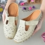 รองเท้าส้นเตี้ยสีแอปริคอท สลิปออนเปิดส้น 321-998-APR thumbnail 3