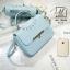 กระเป๋าสะพายกระเป๋าถือ แฟชั่นนำเข้าสไตล์คุณหนู AX-12343-BLU (สีน้ำเงิน) thumbnail 2