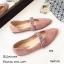 คัชชูกำมะหยี่คาดเพชร 876-ชมพู (สีชมพู) thumbnail 5