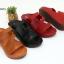 พร้อมส่ง รองเท้าส้นเตารีดแบบสวม 40075-MAR [สีม่วง] thumbnail 3