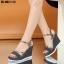 รองเท้ารัดข้อเปิดท้ายส้นเตารีดสีดำ LB-ST011-BLK thumbnail 3