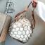 กระเป๋าสะพายกระเป๋าถือ แฟชั่นนำเข้าสุด chic สไตล์เกาหลี MB18-00908-BRO (สีน้ำตาล) thumbnail 5