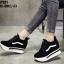 รองเท้าผ้าใบสีดำ งานนำเข้า100% ST921-BLK thumbnail 3
