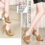 พร้อมส่ง รองเท้าส้นสูงหุ้มส้นเปิดหน้า ST1619-YEL [สีเหลือง] thumbnail 3