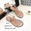 รองเท้าแตะโซ่คาดหน้า G4112-ครีม (สีครีม) thumbnail 5