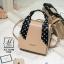 กระเป๋าสะพายกระเป๋าถือ แฟชั่นนำเข้าทรงสี่เหลี่ยมสไตล์เกาหลี AX-12394-PNK [สีชมพู] thumbnail 1