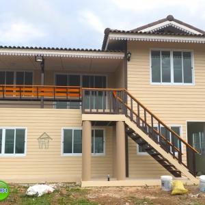 6-001 บ้านน็อคดาวน์ - บ้านหลังใหญ่ - ทรงจั่วมุกซ้อน