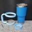 ชุดแก้วเยติ 30 ออนซ์ พื้นสีฟ้า ขอบเงิน thumbnail 1