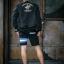 กางเกงขาสั้น พรีเมี่ยม ผ้า COTTON รหัส SST 215 Blue สีดำ แถบ ฟ้าขาว thumbnail 2