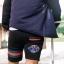 กางเกงขาสั้น พรีเมี่ยม ผ้า วอร์ม รหัส WT215 GC สีดำ แถบ เขียว แดง thumbnail 2