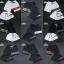 กางเกงขาสั้น พรีเมี่ยม ผ้า COTTON รหัส SST 215 ฺGC สีดำ แถบ เขียวแดง thumbnail 5