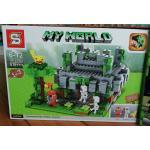 เลโก้จีน SY922 My world บ้านปิกาจู บริคเหลี่ยมเยอะดี