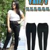กางเกงยีนส์ไซส์ใหญ่เอวสูง เอวยางยืด มีเชือกดึงได้ สีดำ บล็อกใหญ่ มี SIZE 34 36 38 40 42 44