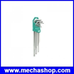 ประแจหกเหลี่ยมตัวแอล ประแจหกเหลี่ยม ประแจหกเหลี่ยม 9ชิ้น Ballpoint HW-129BL (CN)