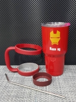 ชุดแก้วเยติ 30 ออนซ์ พื้นสีแดง หน้ากาก ไอรอนแมน