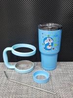 ชุดแก้วเยติ 30 ออนซ์ พื้นสีฟ้า ลายการ์ตูน โดราเรม่อน ปิดปาก