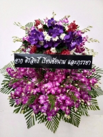 พวงหรีดดอกไม้สด รหัส 5043