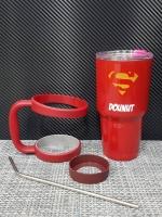 ชุดแก้วเยติ 30 ออนซ์ พื้นสีแดง โลโก้ ซุปเปอร์แมน