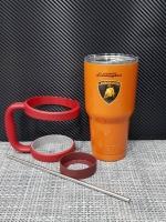 ชุดแก้วเยติ 30 ออนซ์ พื้นสีส้ม โลโก้ Lamborghini