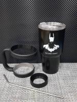 ชุดแก้วเยติ 30 ออนซ์ พื้นสีดำ โลโก้ แบทแมน
