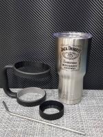 ชุดแก้วเยติ 30 ออนซ์ พื้นสีเงิน โลโก้ Jack Daniels