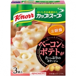 Knorr Bacon & Potato soup คนอร์ ซุปครีมเข้มข้นมันฝรั่งฮอกไกโดและเบค่อน มีเนื้อมันฝรั่งและเบค่อนในซุปด้วย