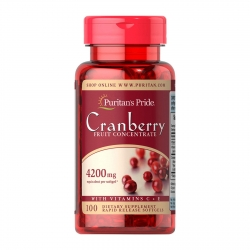Puritan's Pride Cranberry 4,200 mg 100 เม็ด plus C+E วิตามินบำรุงต่อมลูกหมาก จากอเมริกาค่ะ