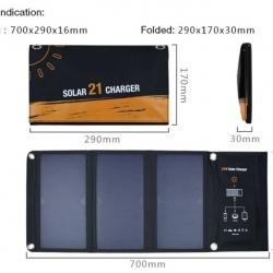 Solar Cell แบบพกพา (15/21 Watt)